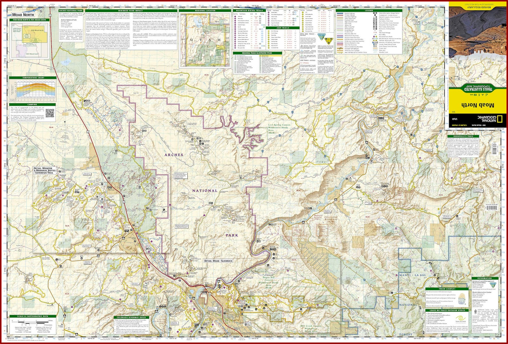 National Geographic Trails Illustrated Topographic Maps