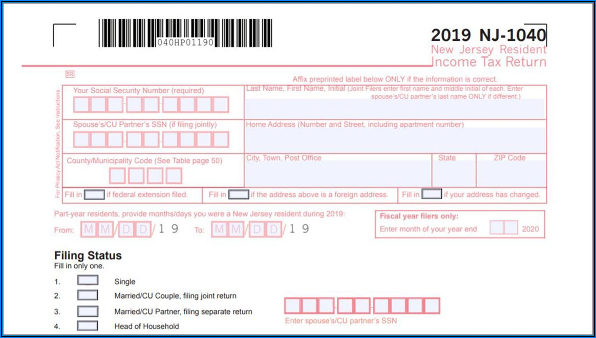 Nj Ifta Tax Form