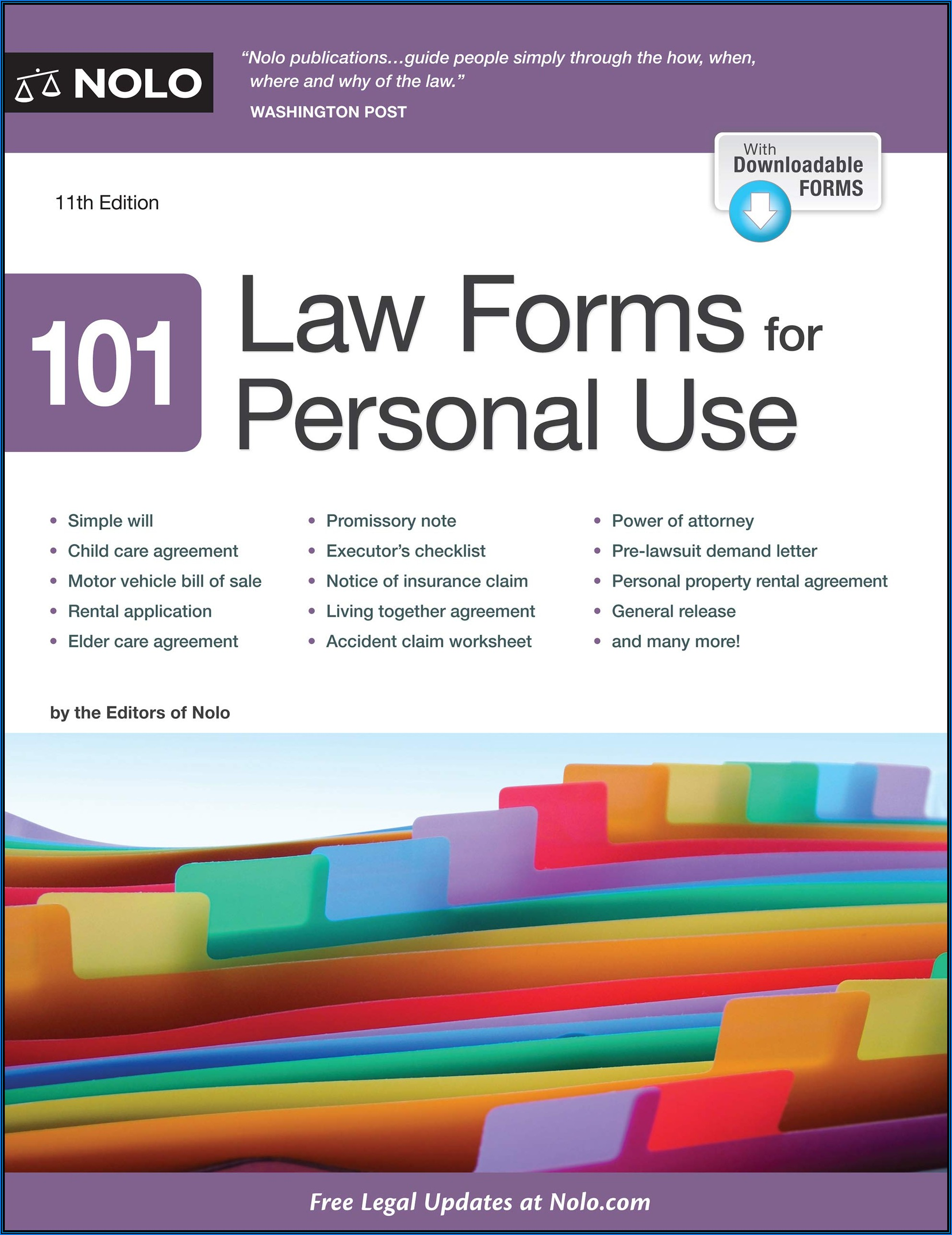 Nolo 101 Law Forms For Personal Use