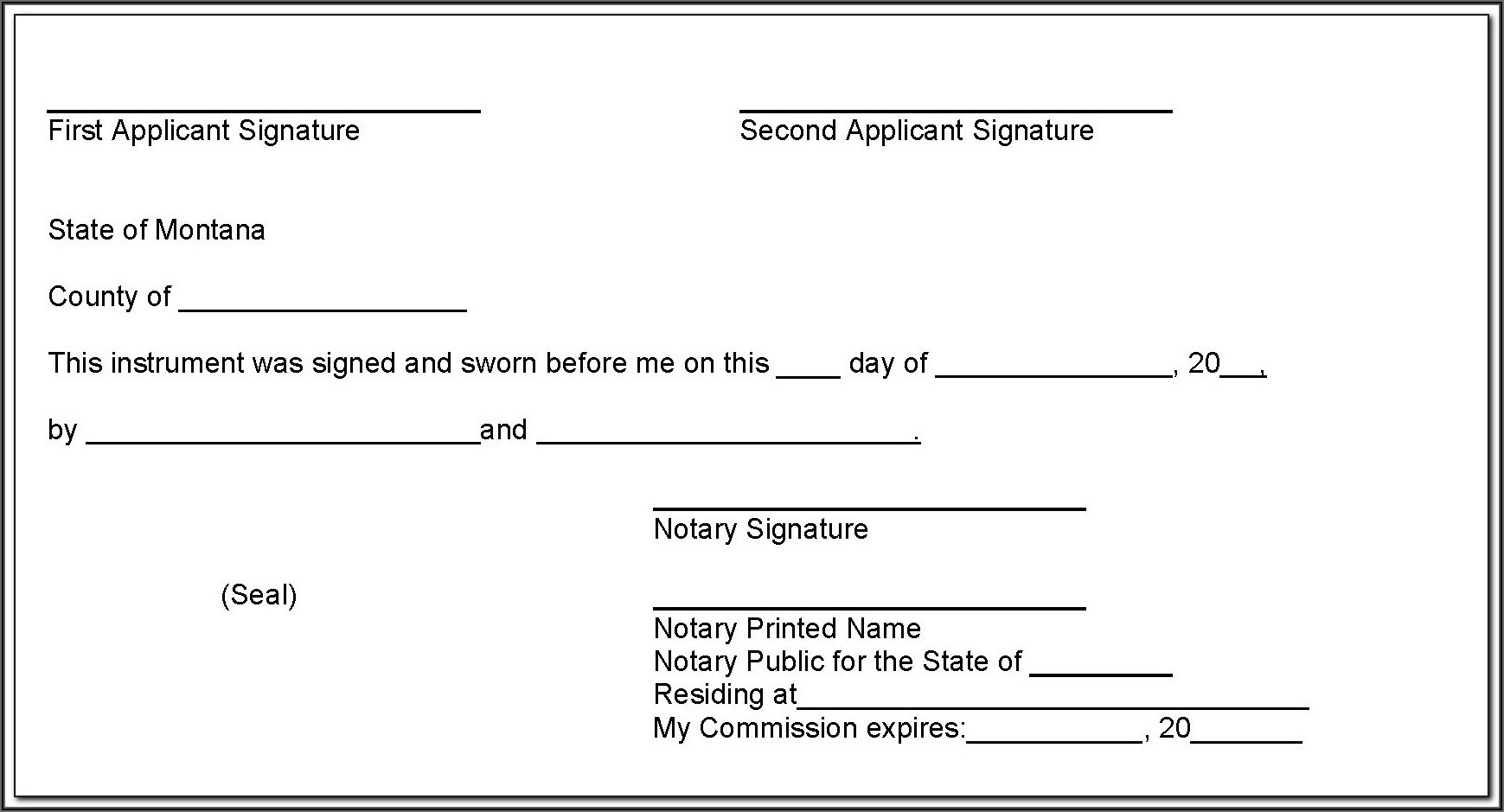 Notary Template Nc