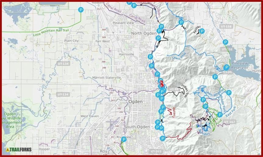 Ogden Utah Hiking Maps