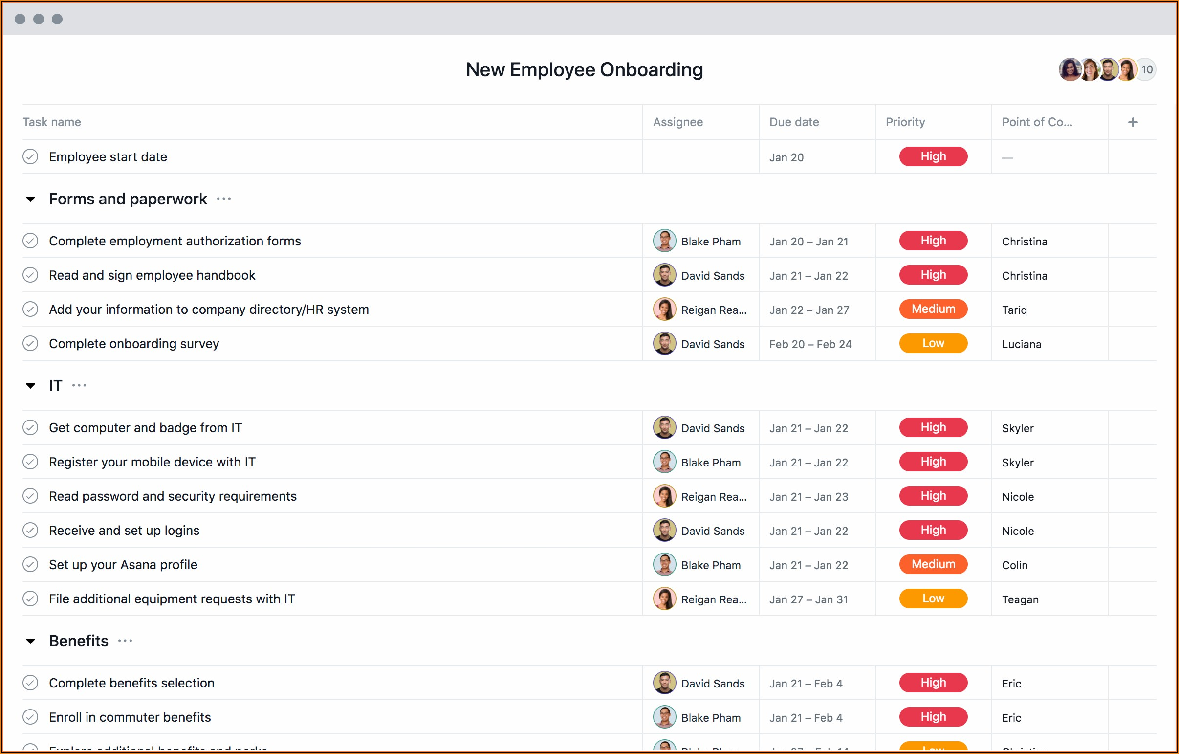 Onboarding Process For New Hires Template