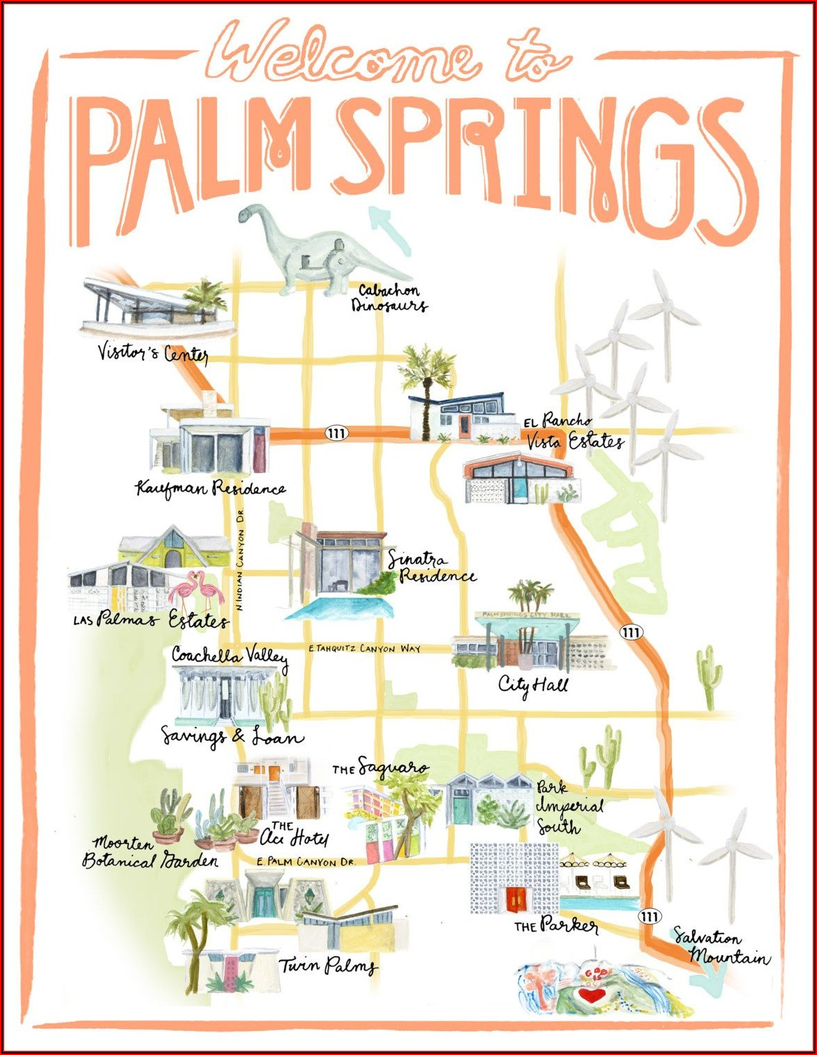 Palm Springs Gay Hotels Map