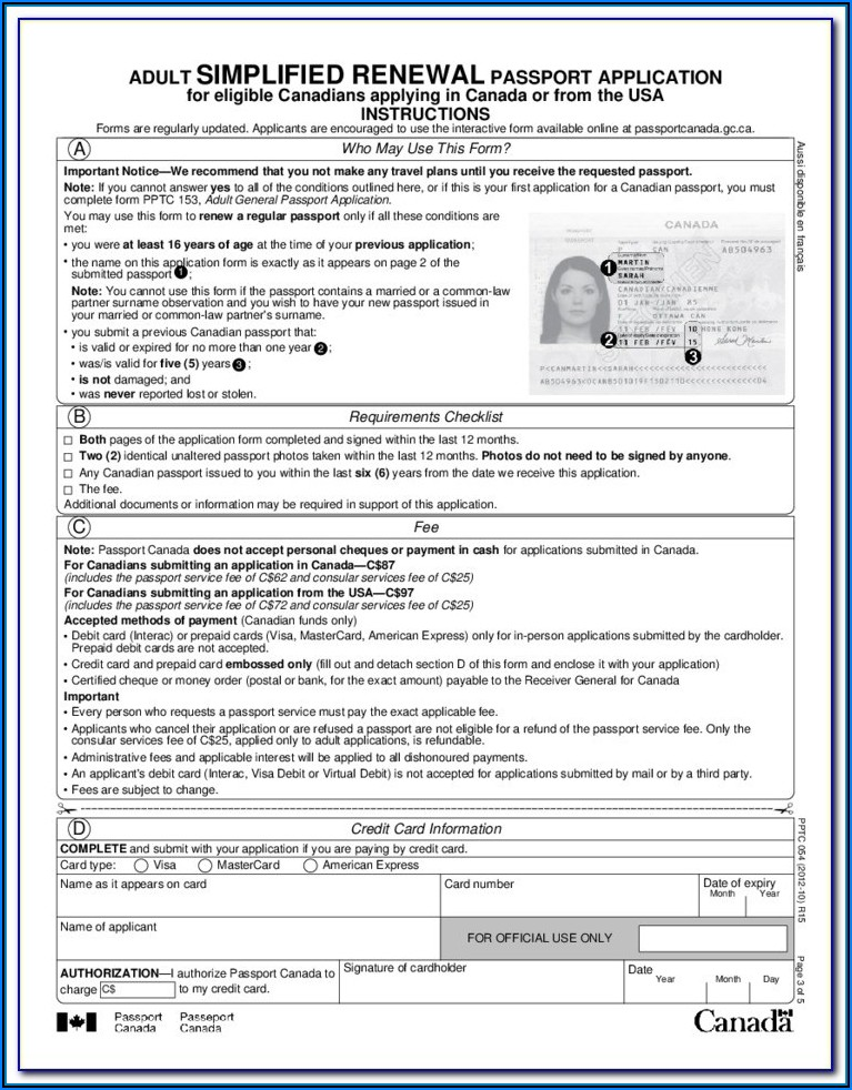 Passport Forms Renewal Uk