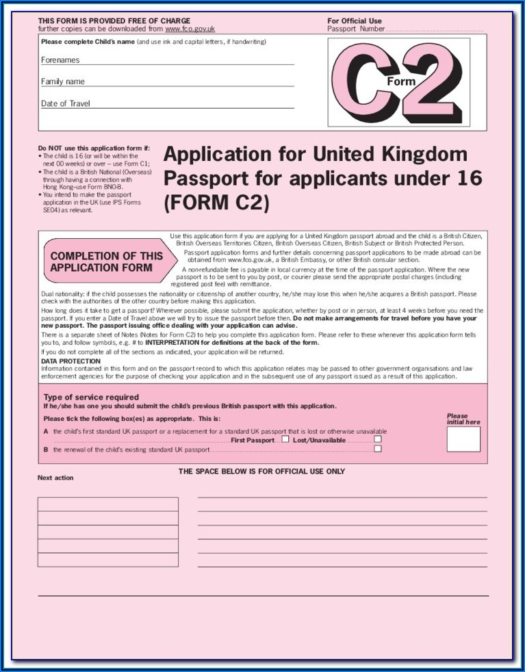 Passport Renewal Forms Online