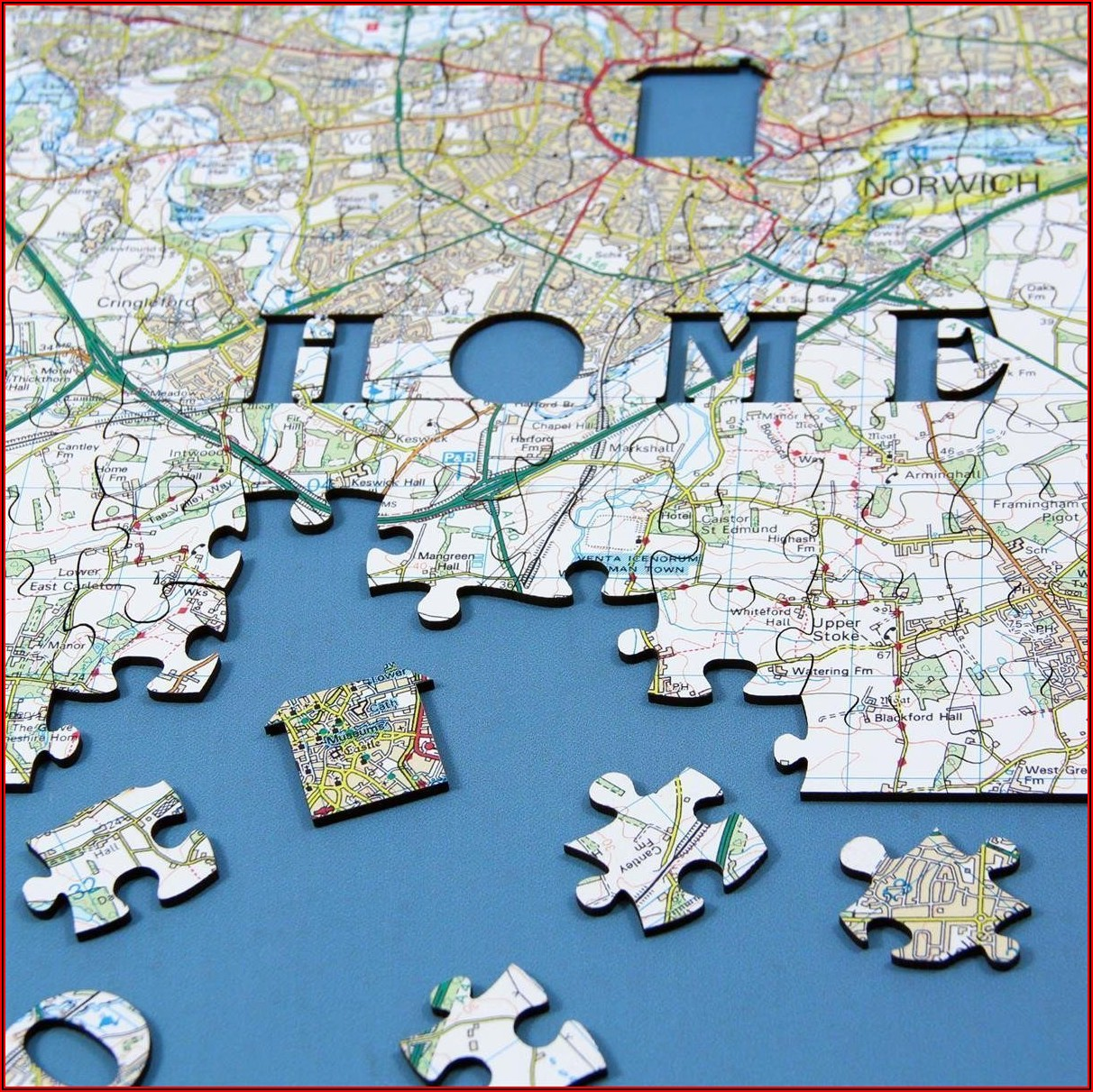 Personalised Map Jigsaw Puzzle Uk