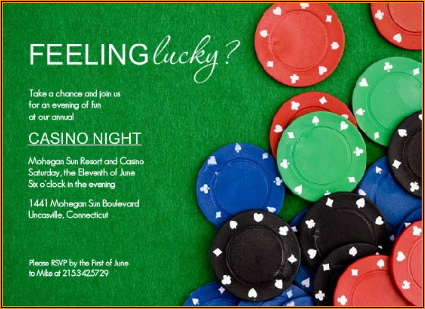 Poker Chip Invitation Template