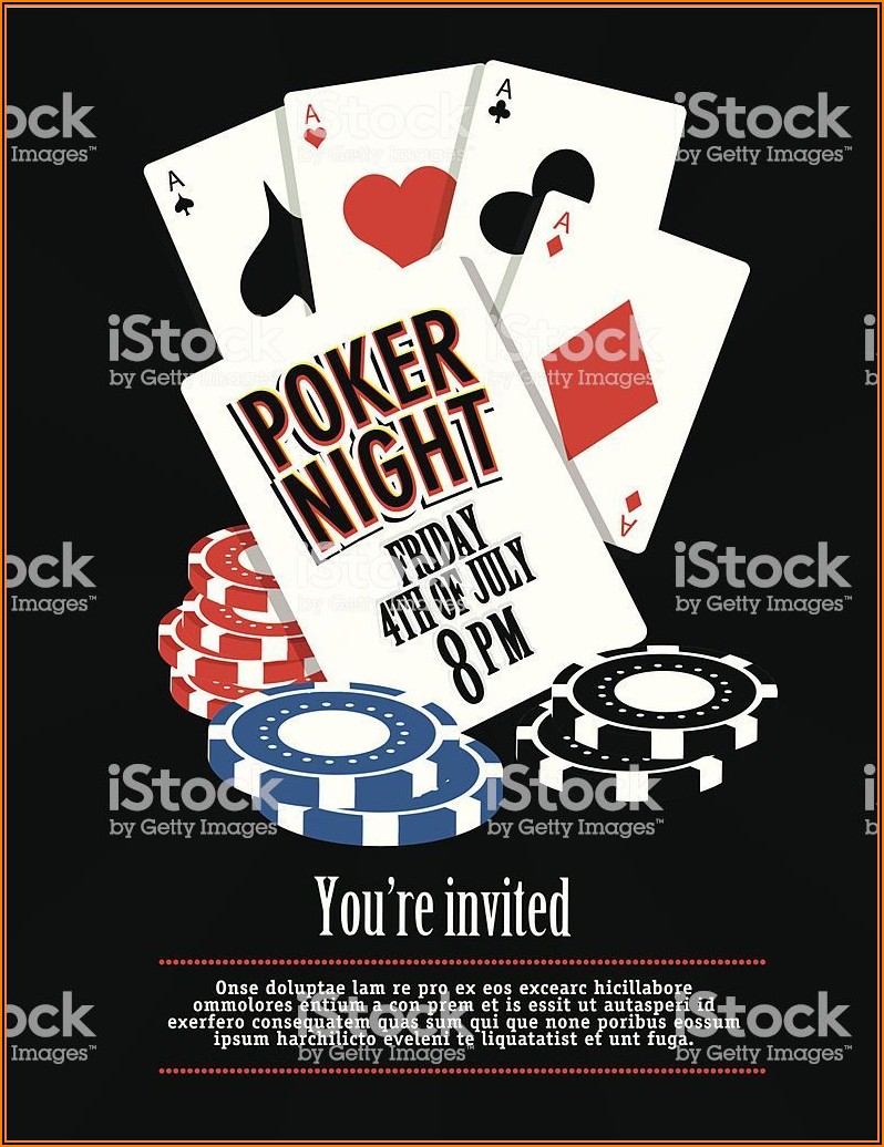 Poker Game Invitation Template