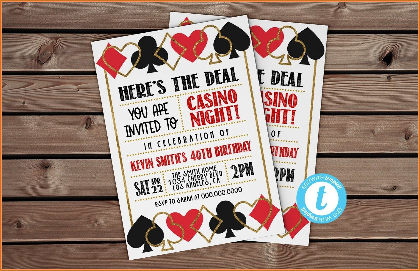 Poker Invitation Template Free Download