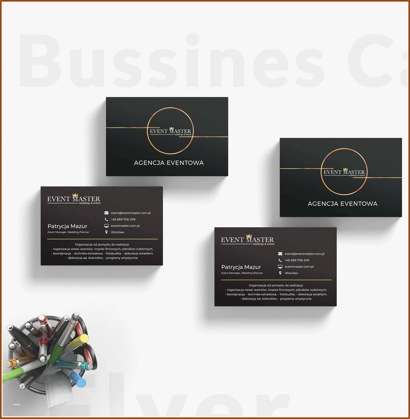 Polka Dot Business Card Templates Free