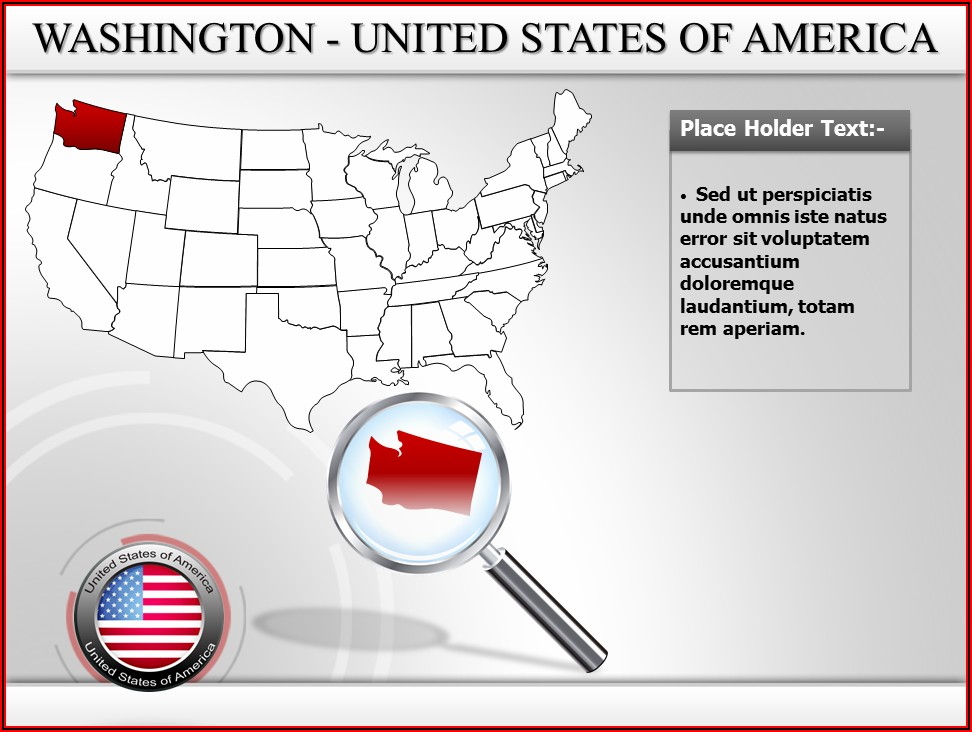 Powerpoint Map Of Usa Template