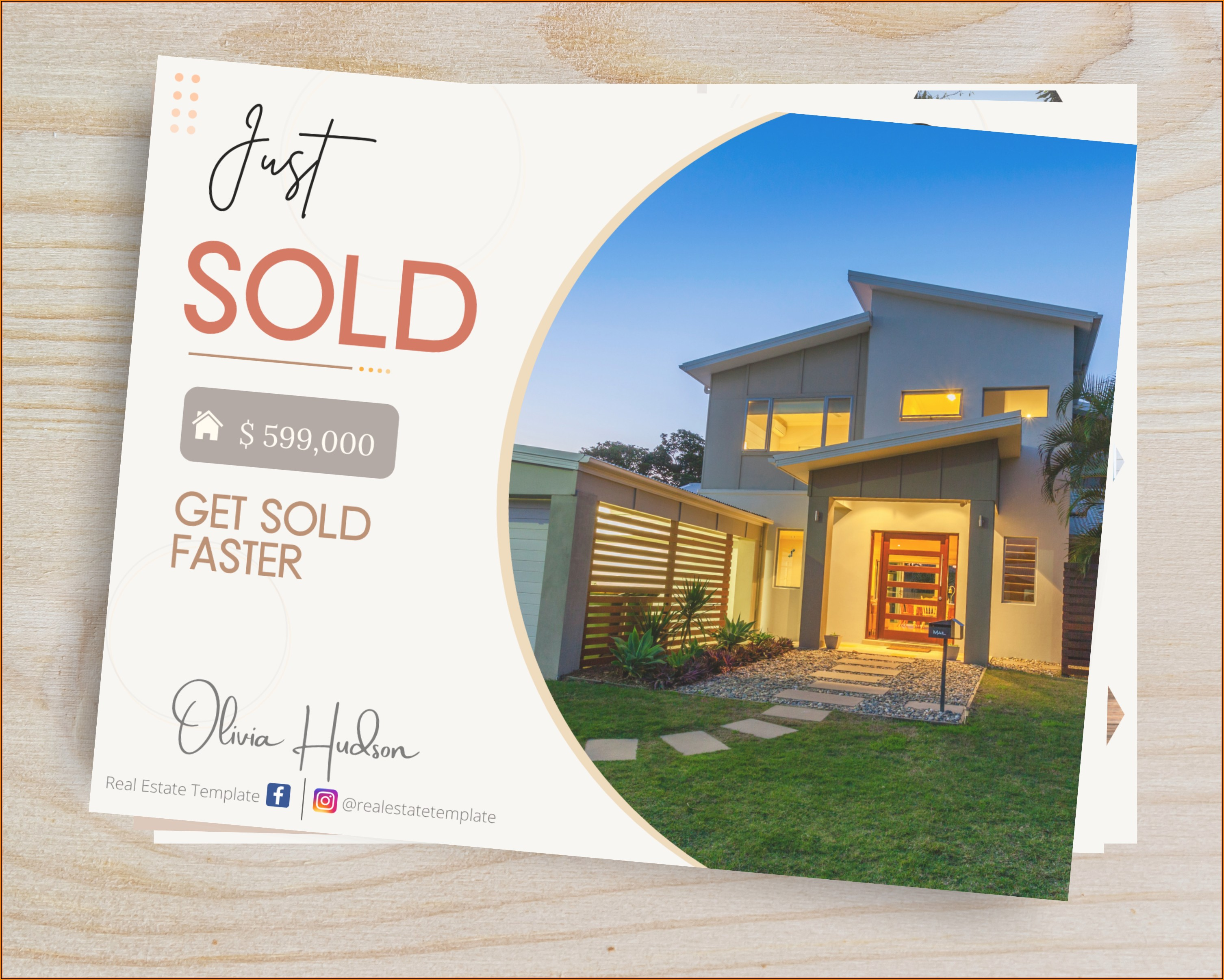 Real Estate Marketing Postcards Templates