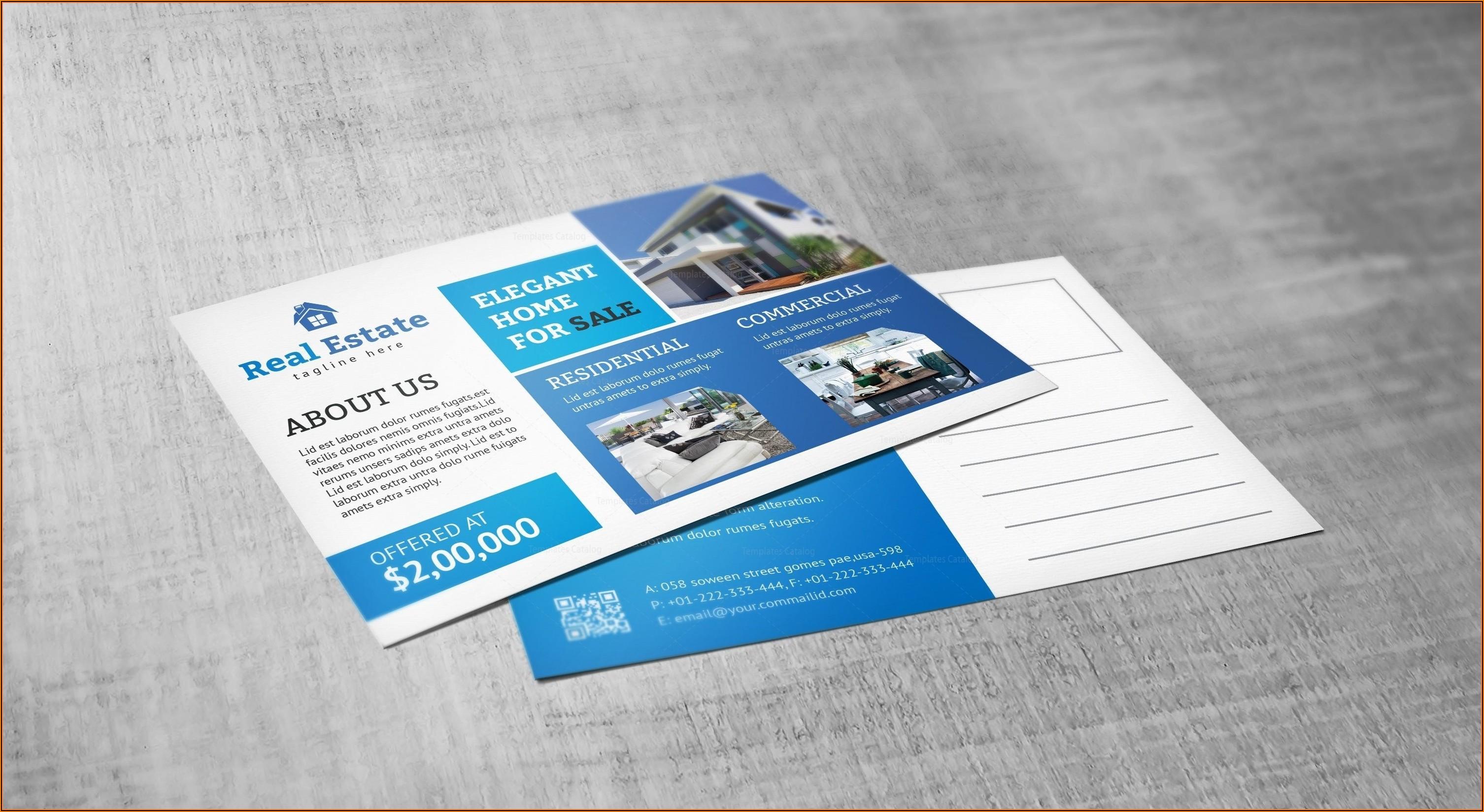 Real Estate Postcard Design Templates