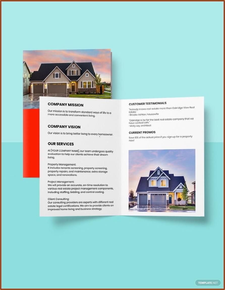 Real Estate Sales Brochure Template