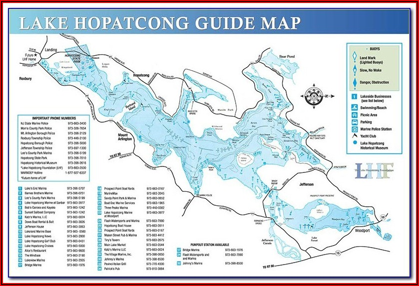Sabine Lake Depth Map