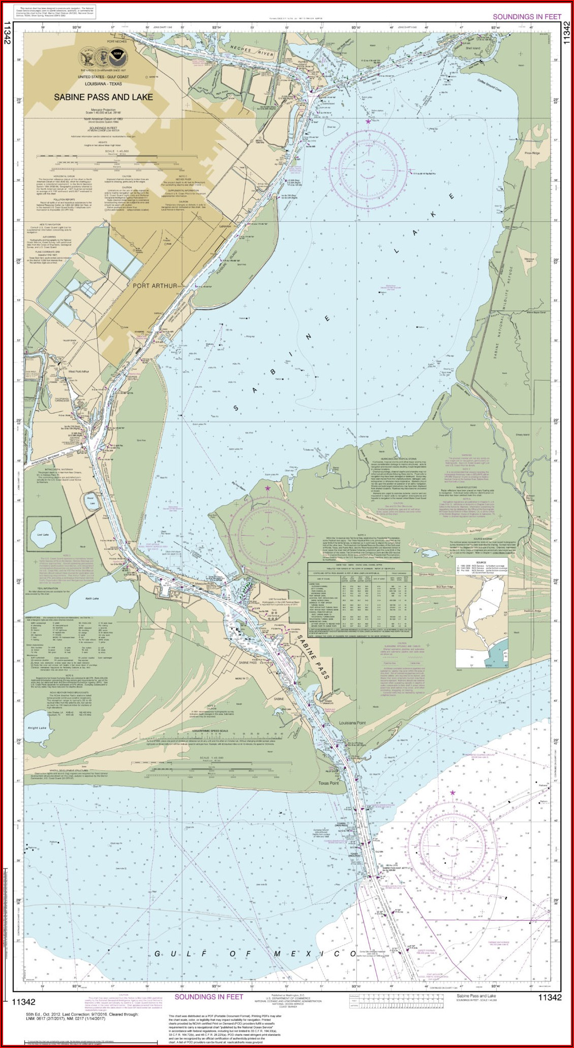 Sabine Lake Map