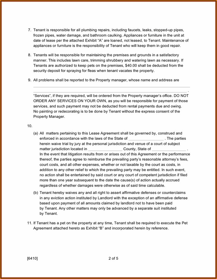 Sample Residential Lease Agreement Pdf