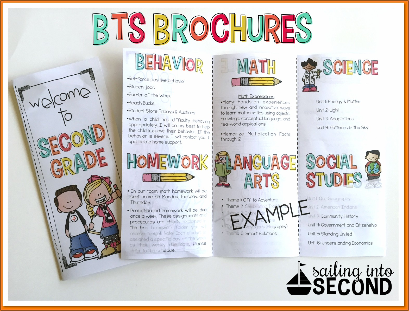 School Open House Brochure Template