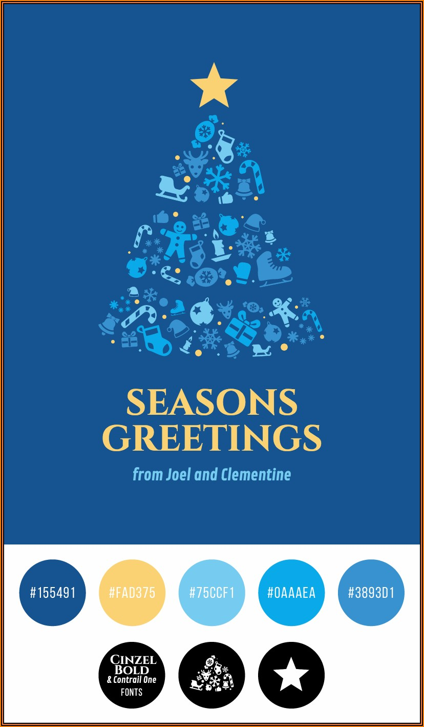 Seasons Greetings Card Templates Free