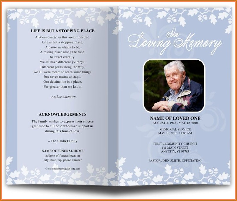Secular Funeral Service Template