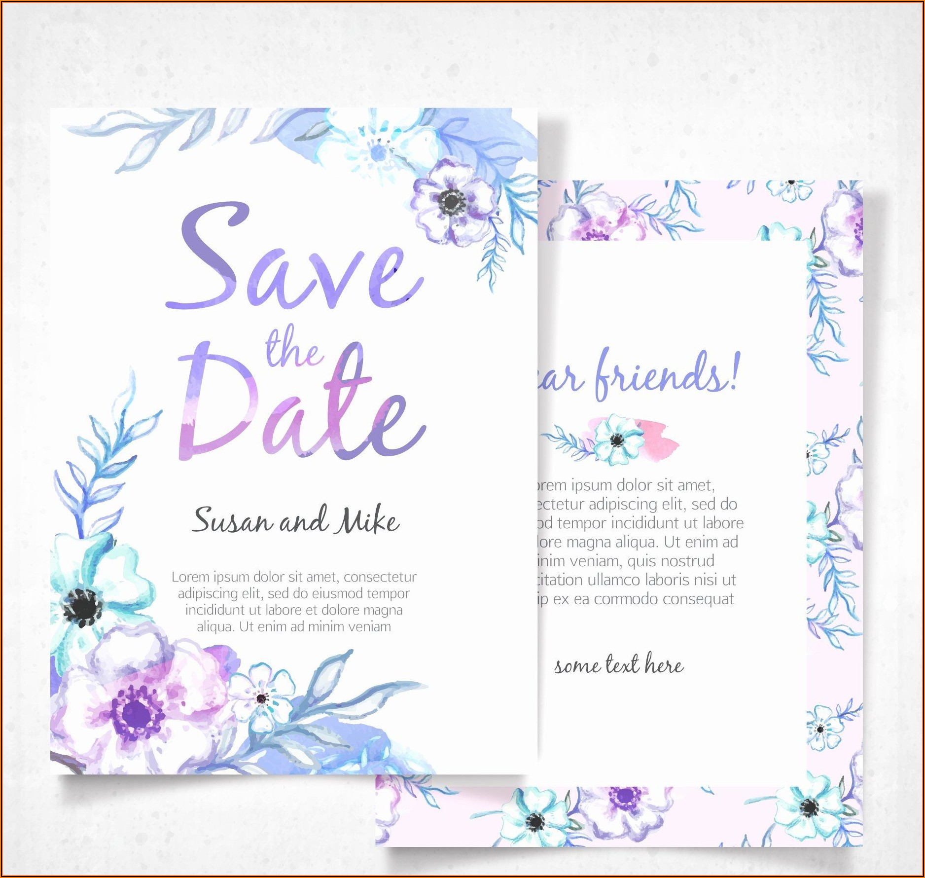 Silver Wedding Invitations Templates