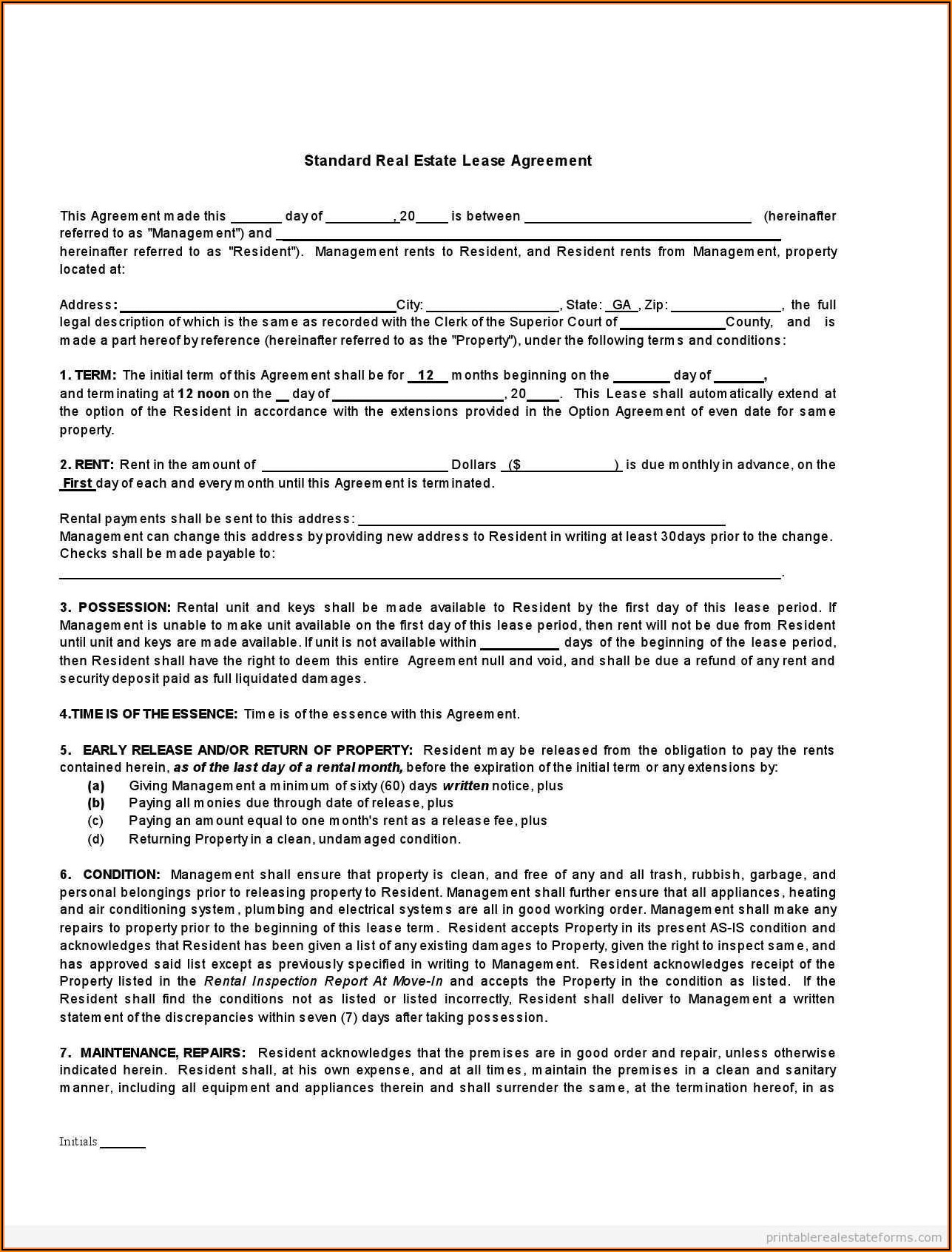 Surrender Of Lease Agreement Template