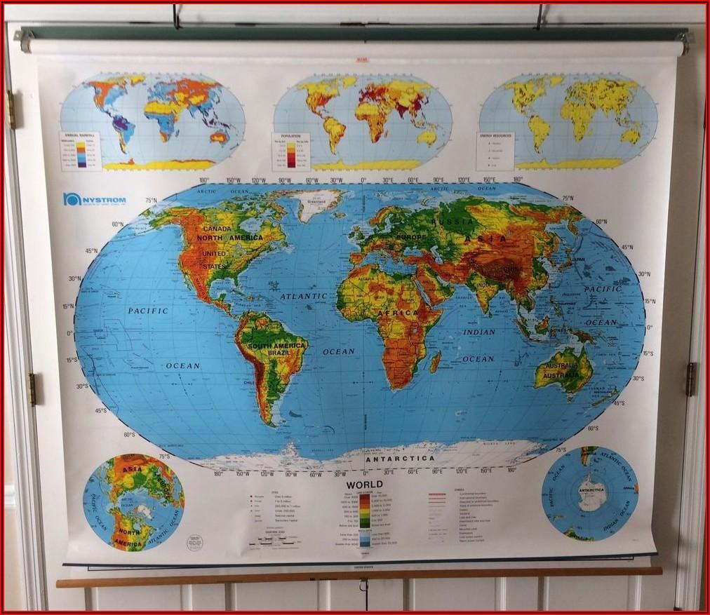 Vintage School Pull Down Maps For Sale Australia