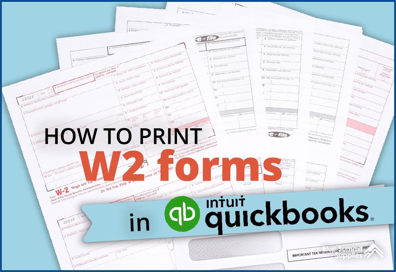 W2 Form Print 2020