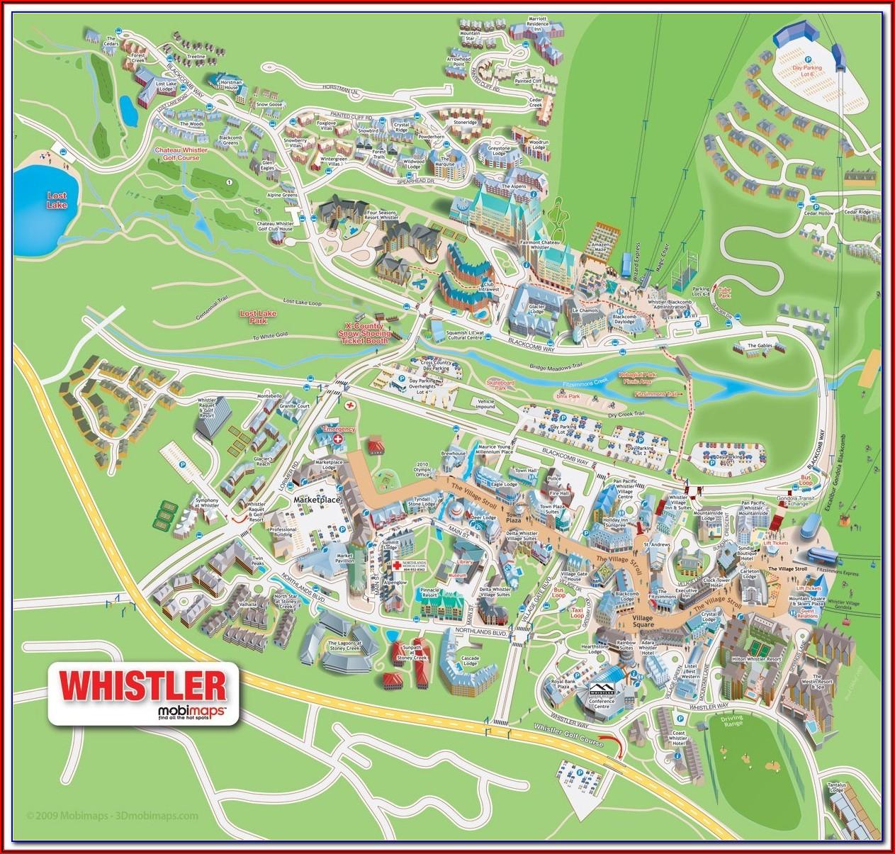 Whistler Upper Village Map Hotels
