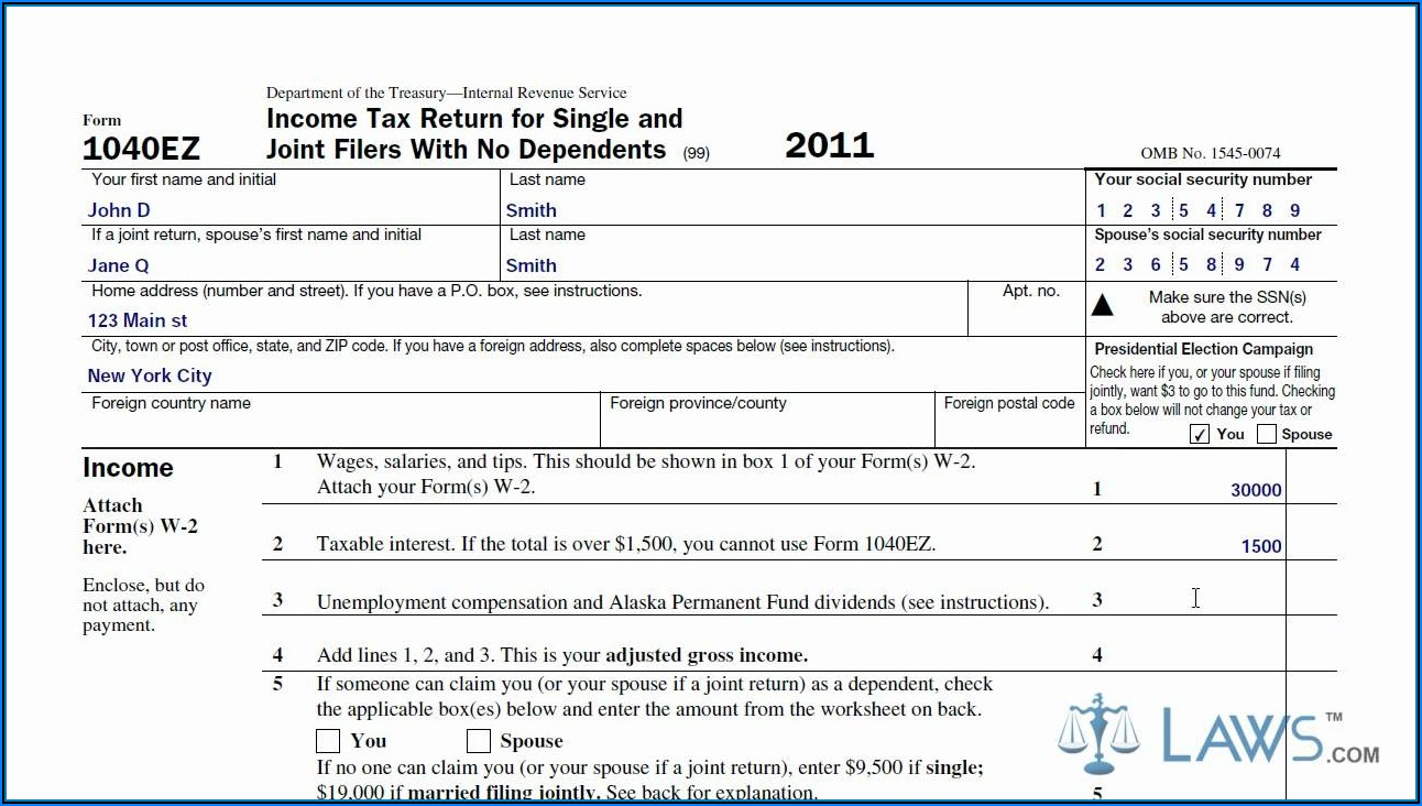 Who Can Use Irs Form 1040ez