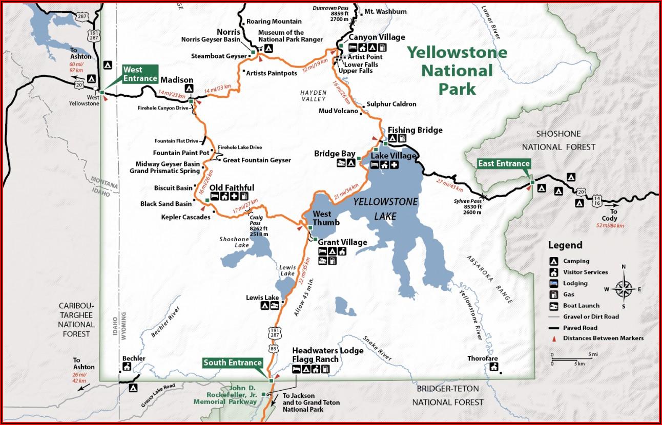 Yellowstone Upper Loop Map