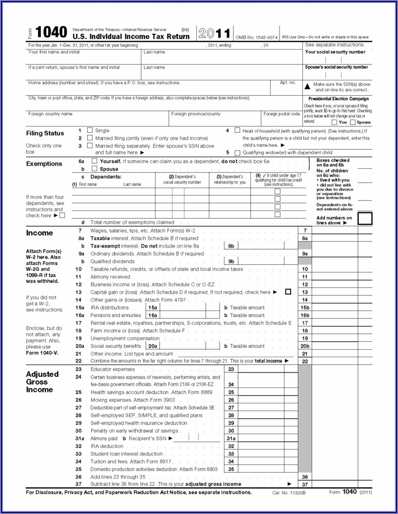 1040ez Tax Form 2016