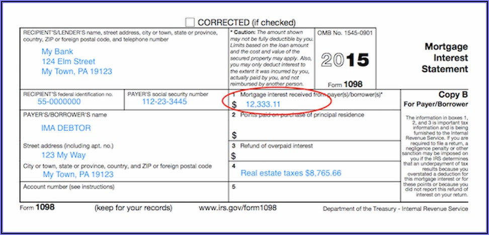 1098 Mortgage Interest Forms