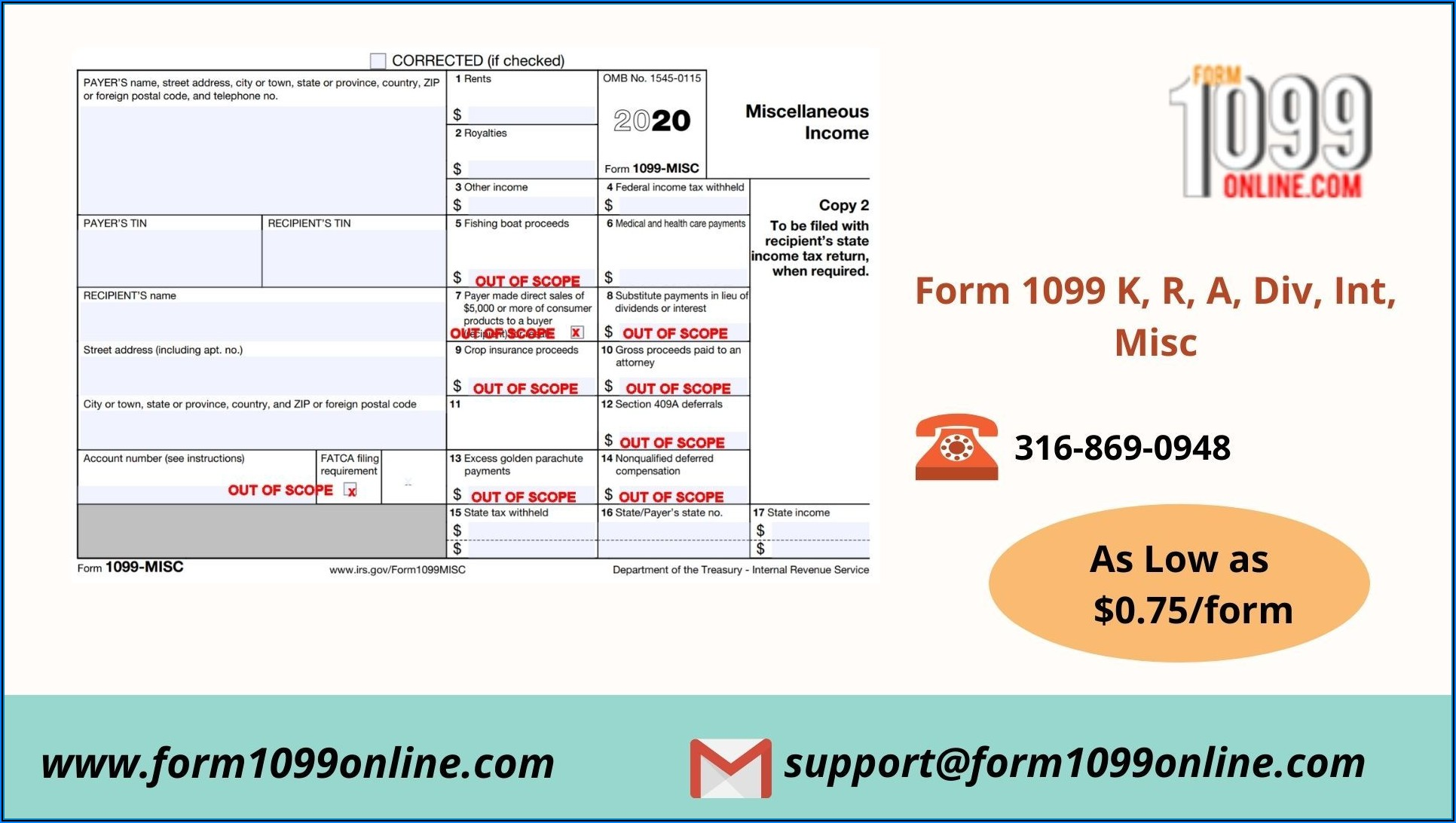 1099 Form Fillable 2020