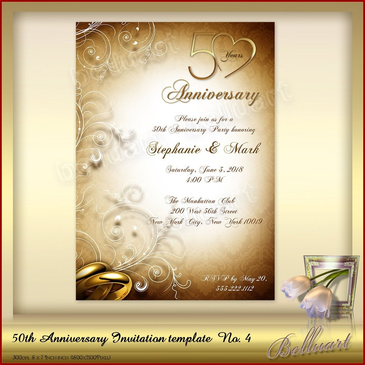 40th Anniversary Invitations Templates Free