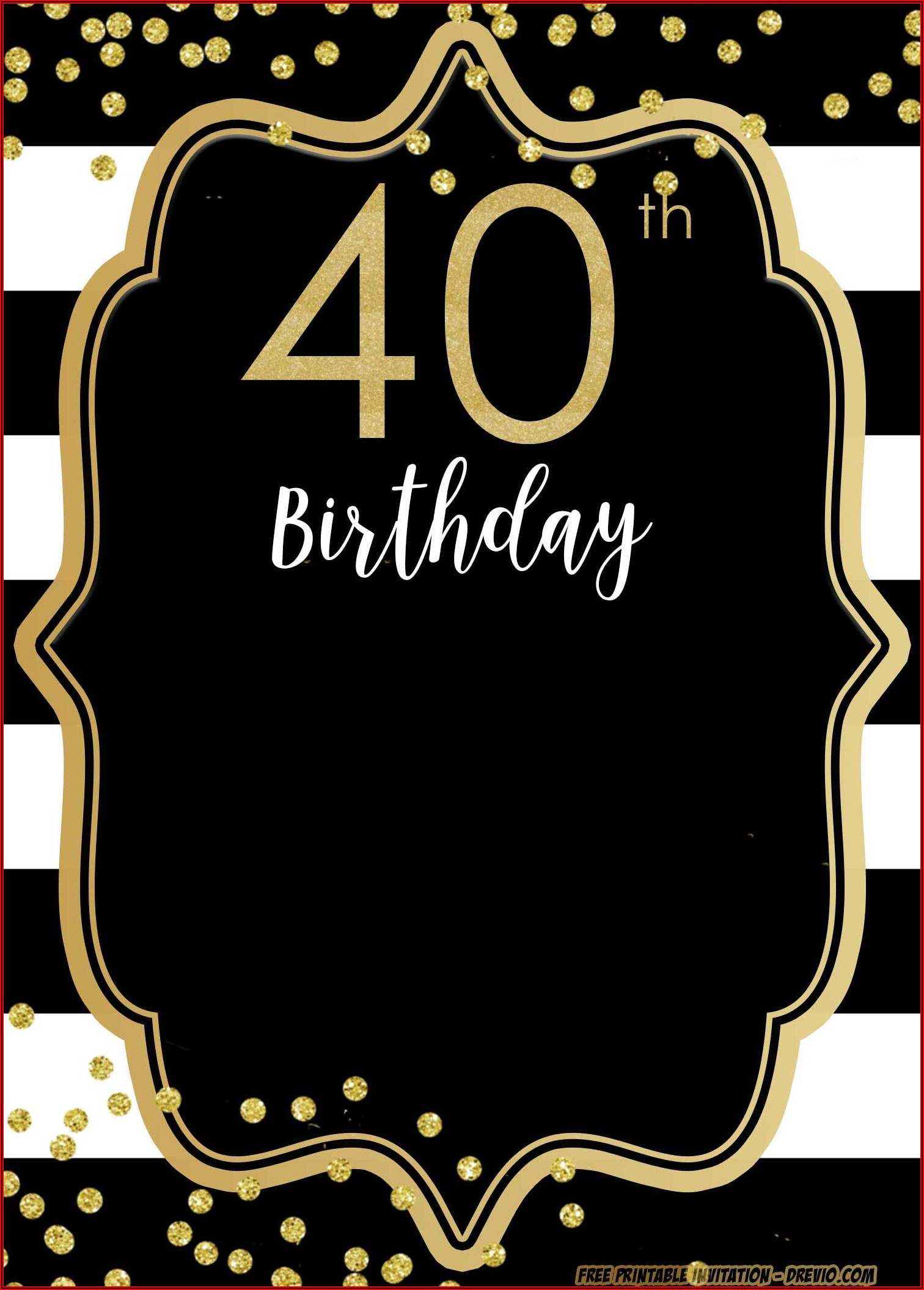 40th Invitation Templates Free