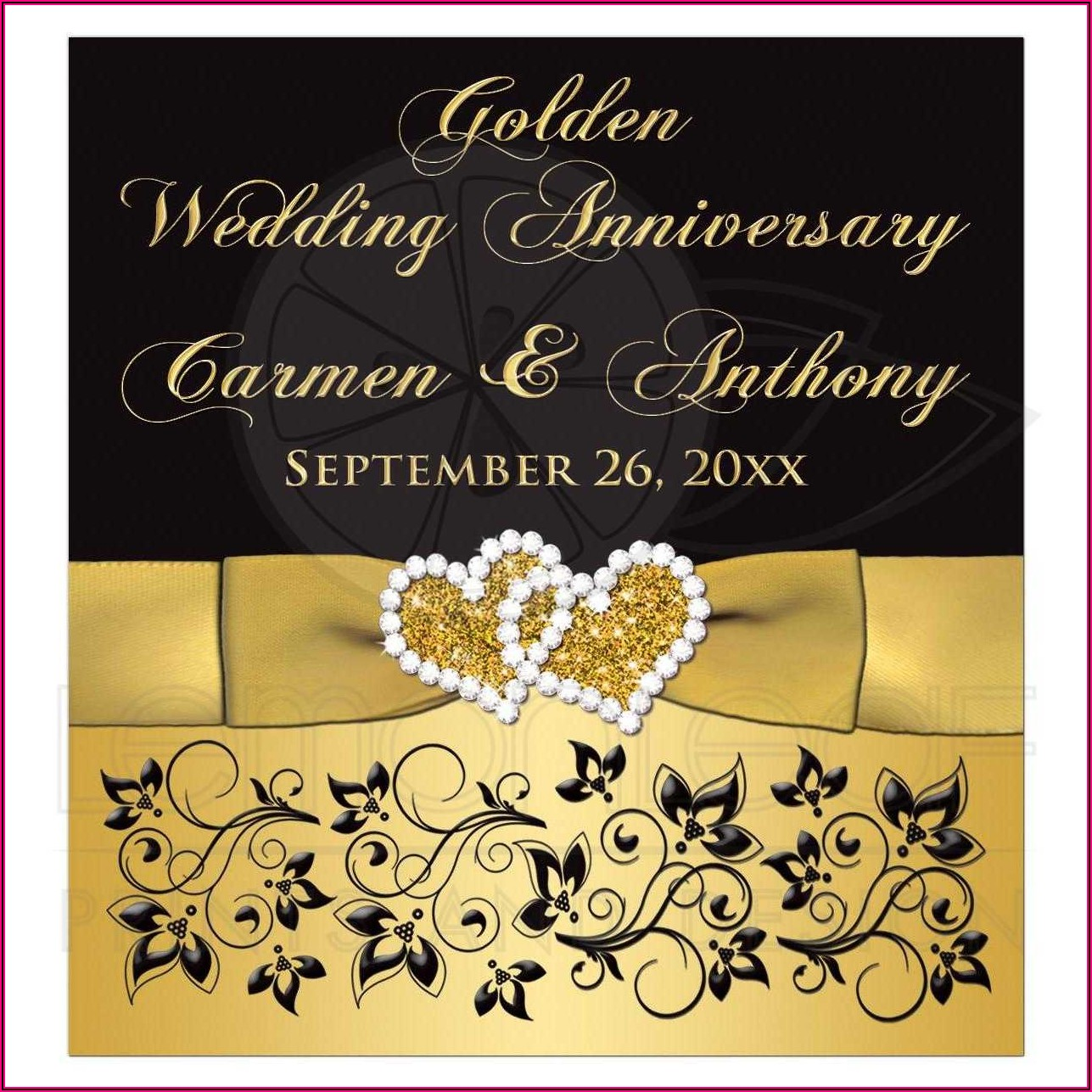 50th Wedding Anniversary Wine Label Template