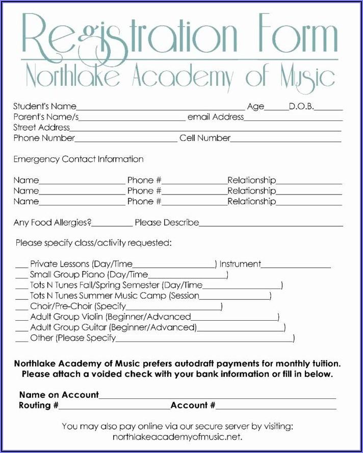 5k Registration Form Template Free