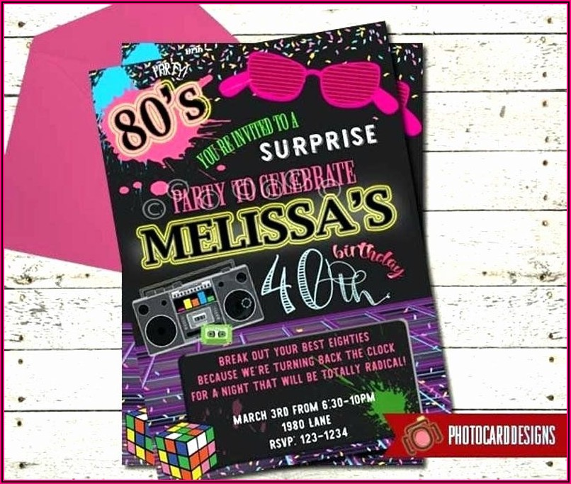 80s Party Invitation Template