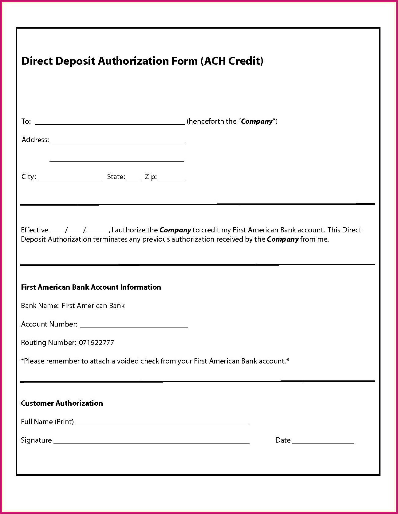 Ach Form Template Pdf
