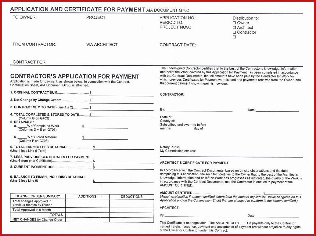 Aia Invoice Form