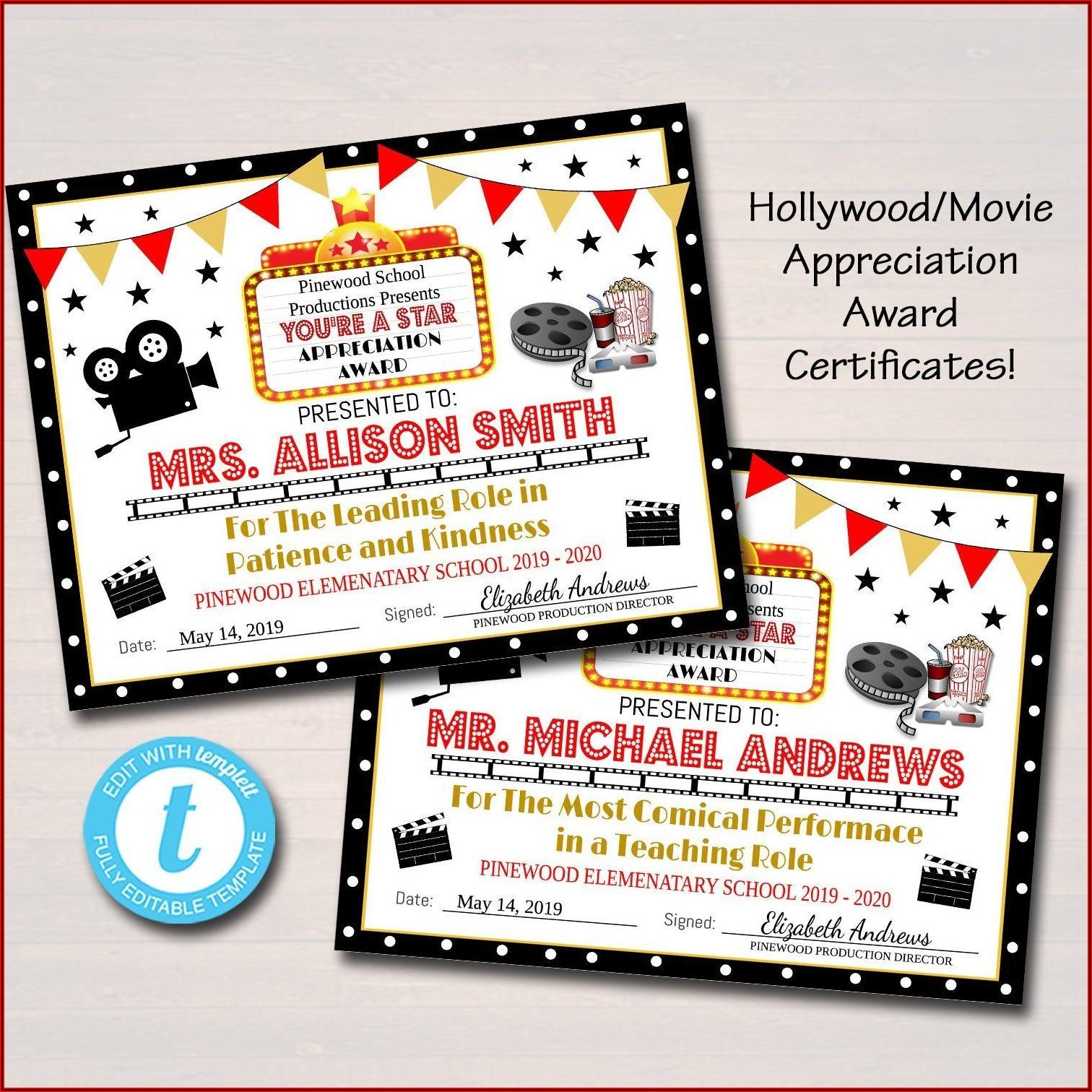 Appreciation Award Printable
