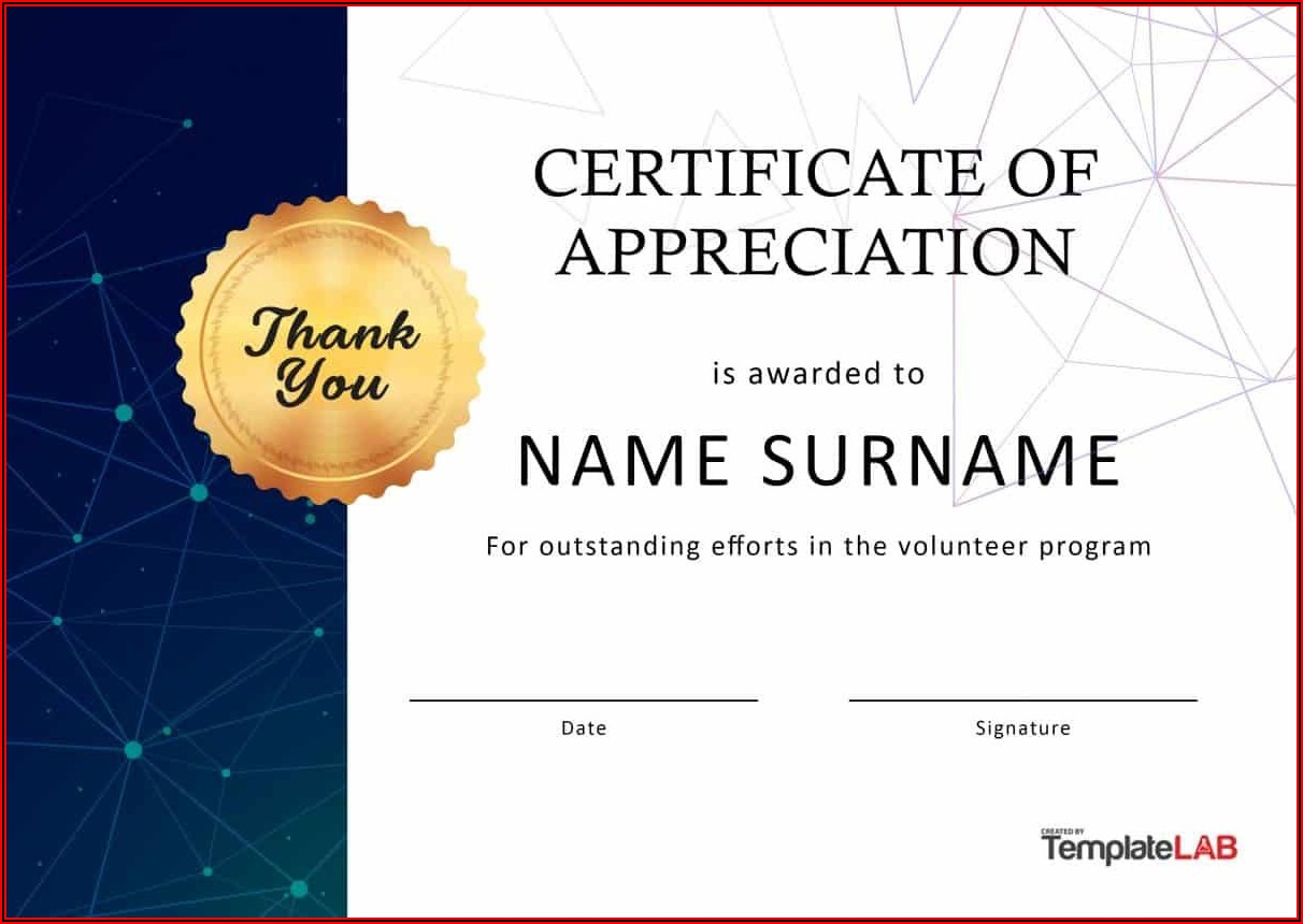 Appreciation Award Templates Free