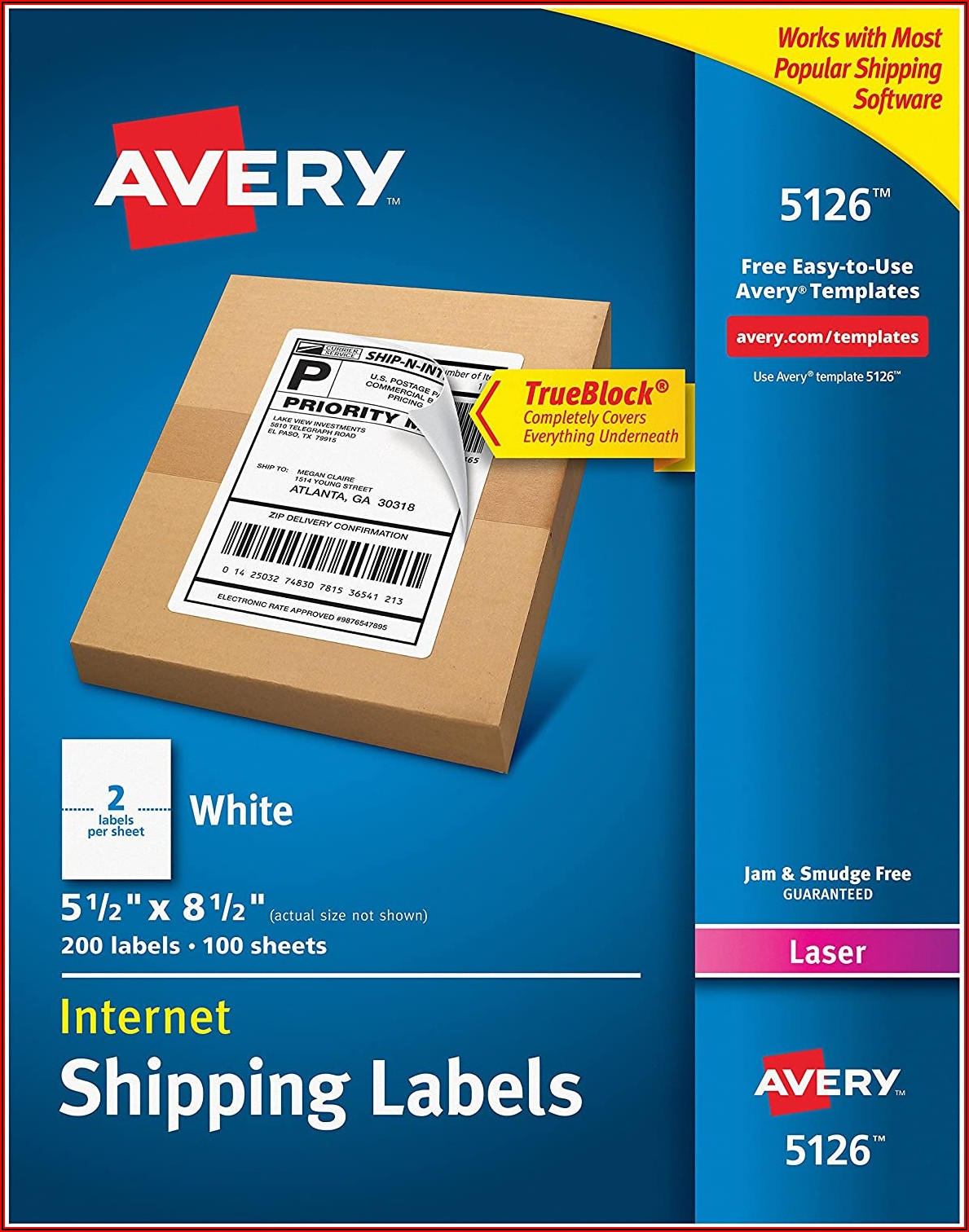 Avery Half Sheet Labels Template