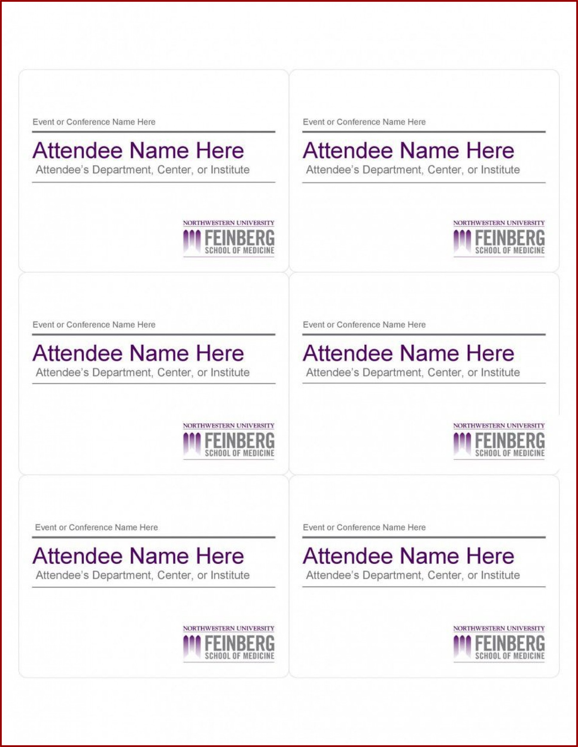 Avery Name Badge Templates 5392