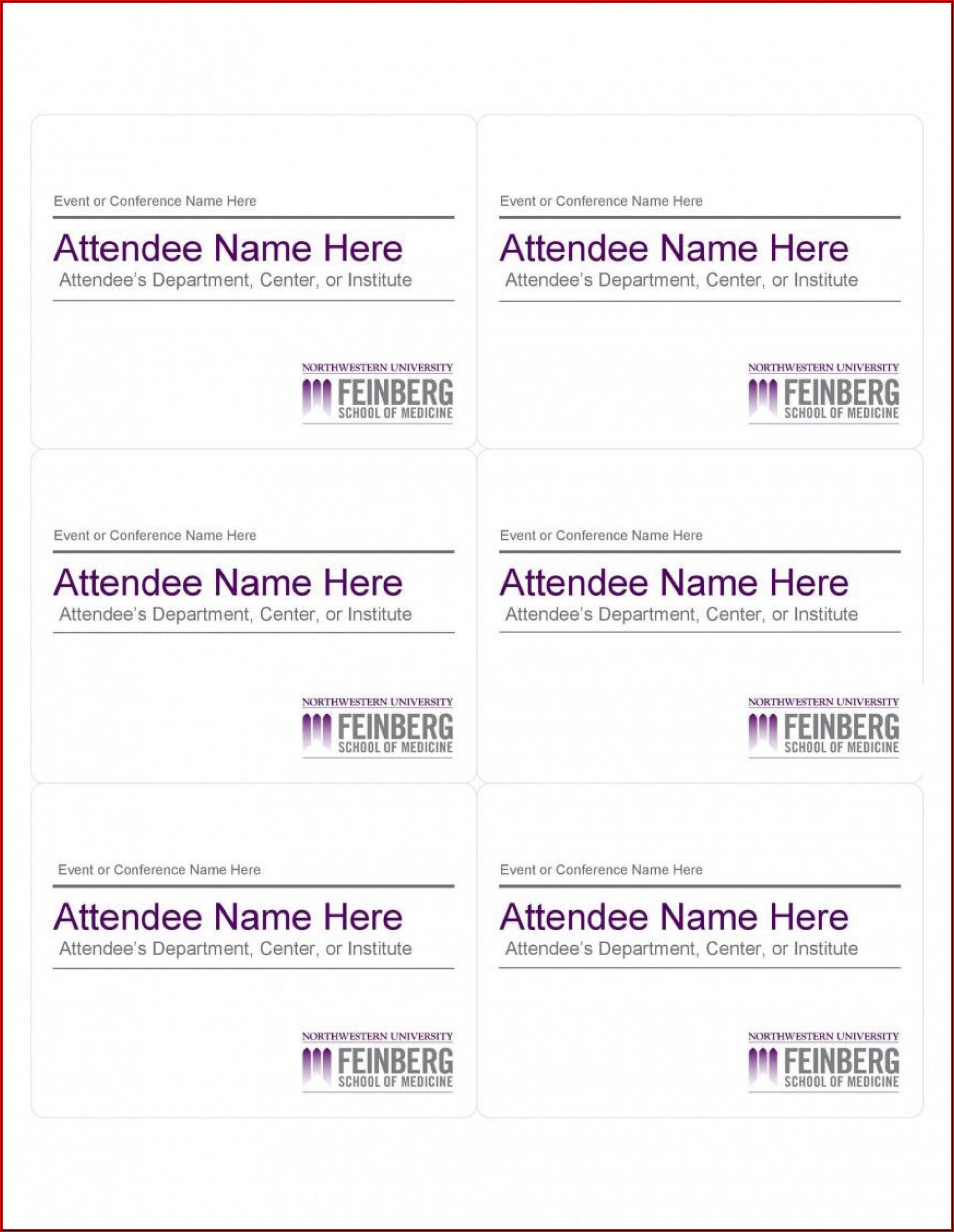 Avery Name Badge Templates 5392