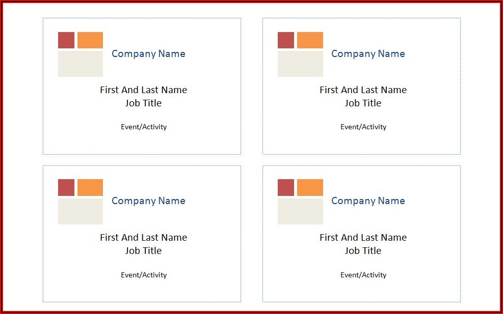 Avery Name Badge Templates 8395