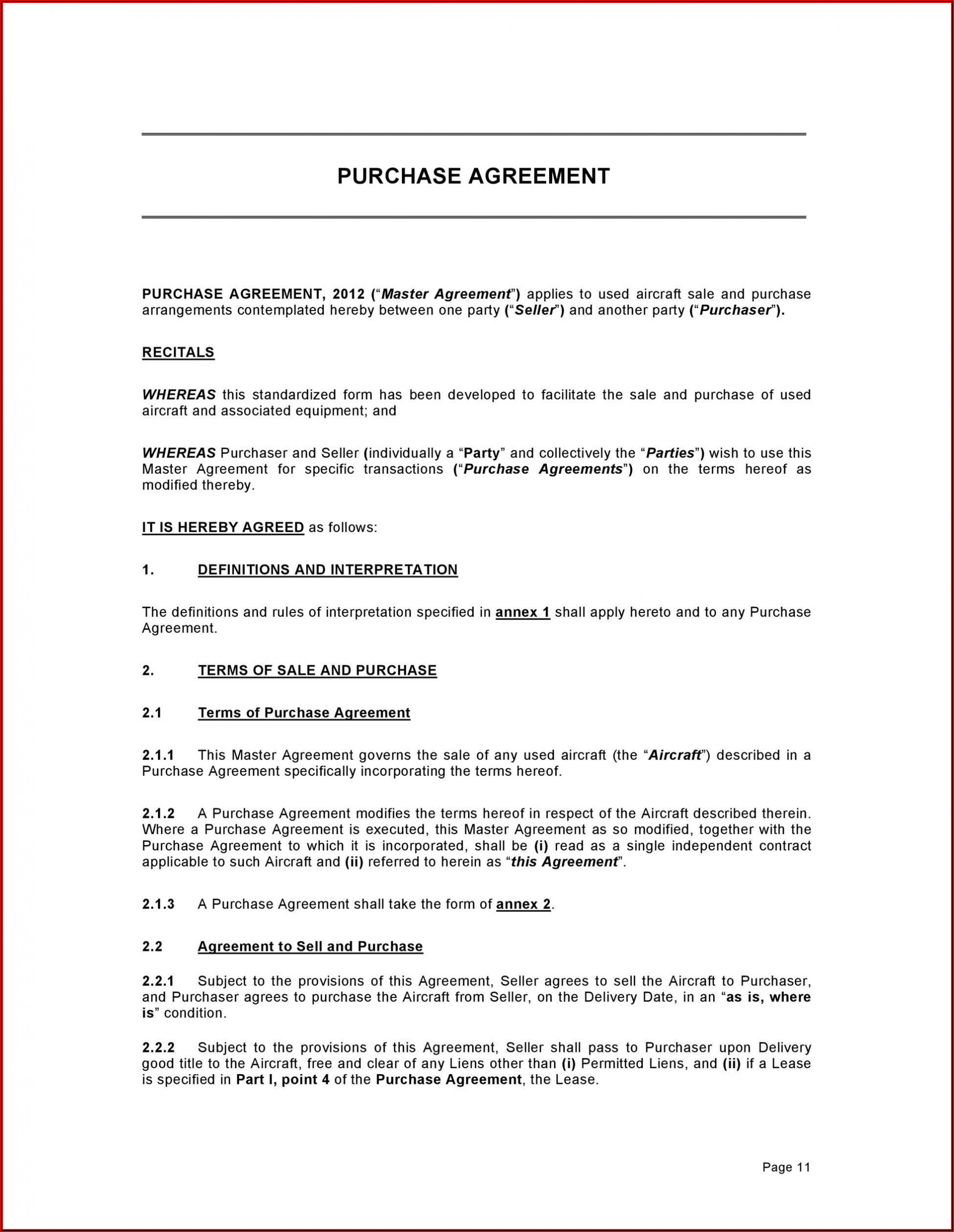 Business Sale Agreement Template Free Download South Africa