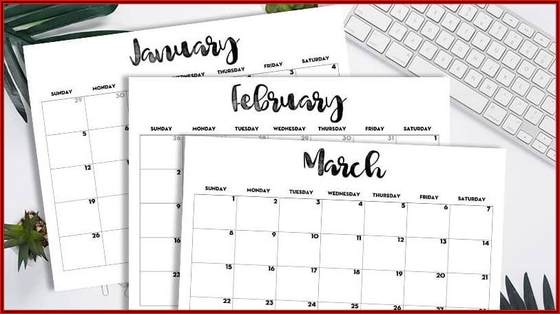 Calendar Planner Template 2020