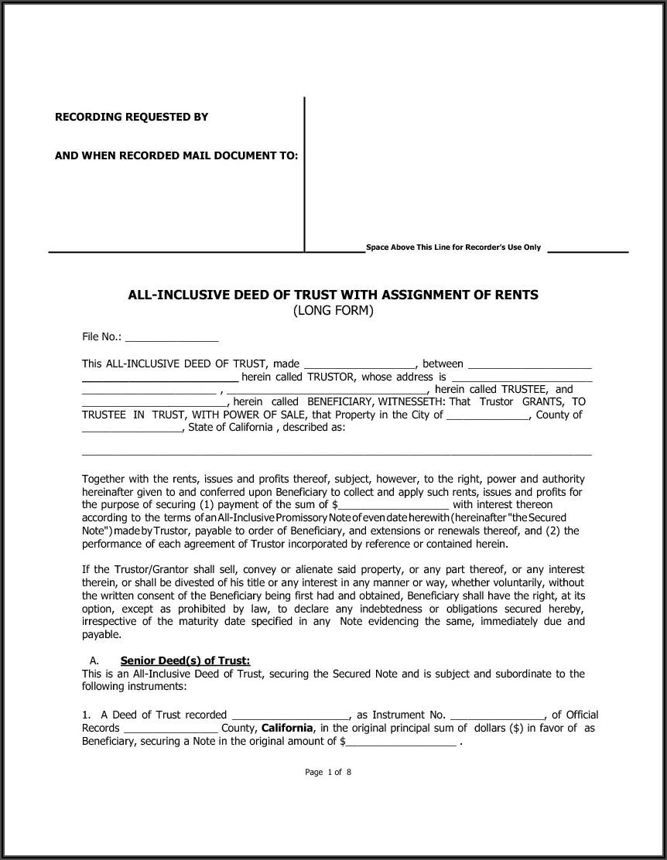 California Grant Deed Form Template